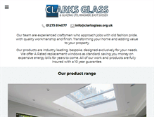Tablet Preview of clarksglass.org.uk